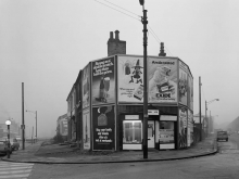 Chris Killip, Shopfronts, Huddersfield 1974