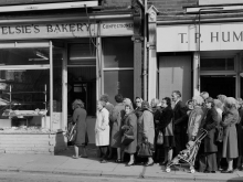 "Chris Killip, Queue During ""The Bread Strike"", Byker, Newcastle 1977"