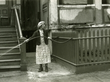 Untitled, New York (woman with hose)