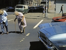 Untitled, New York (old couple crossing street), 1976