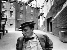 Buster Keaton, MGM back lot, 1965