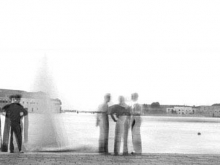 Figures Facing Lake, Venice, 1947