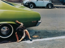 Untitled, New York (spider girl, green car), 1980