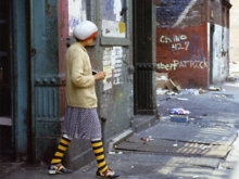 Untitled, New York (knee socks), 1977