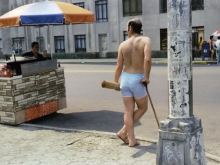 Untitled, New York (man in blue shorts), 1981