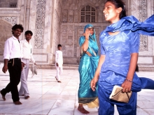 Visitors to the Taj, Mahal, 1993